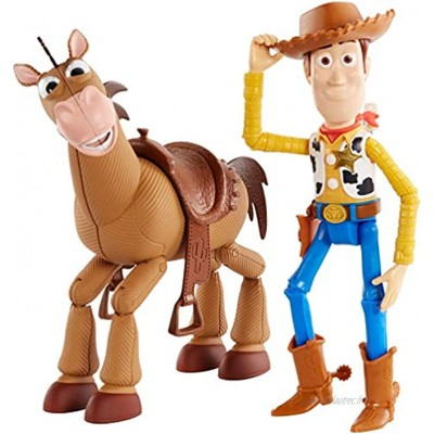 Disney GDB91 Pixar Toy Story 4 Woody and Bullseye Movie-inspired Relative-Scale for Storytelling Play 2-figure pack