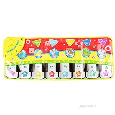 Tnfeeon Portable Baby Piano Mat Kids Play Piano Keyboard Mat Tapis Blanket Early Educational Musical Toy Without Battery